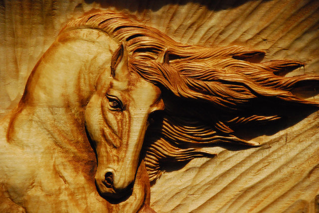 """Wood carving """"horse"""